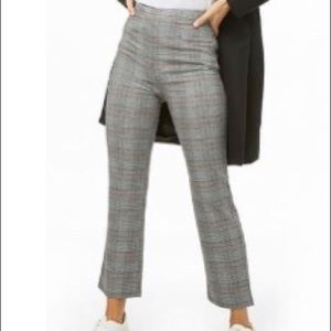 Forever 21 glen plaid high rise pants